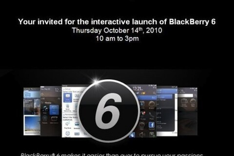 Verizon having interactive launch of BlackBerry 6 on October 14th