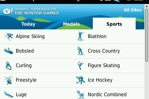 Yahoo! Announces Mobile Site for 2010 Winter Olympics Coverage