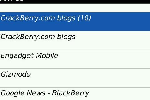 Arr! SS - Simple RSS Reader for BlackBerry
