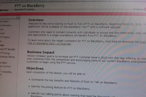 Verizon Push to Talk for BlackBerry Tour Available March 30th