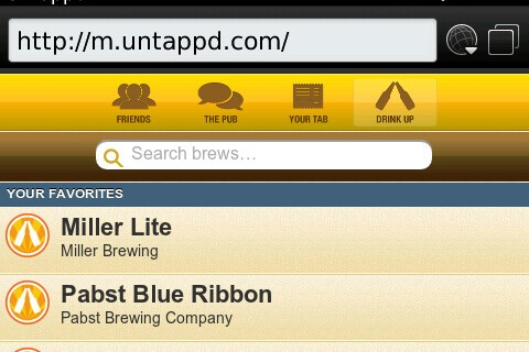 Untappd launches mobile site for BlackBerry OS 5 users