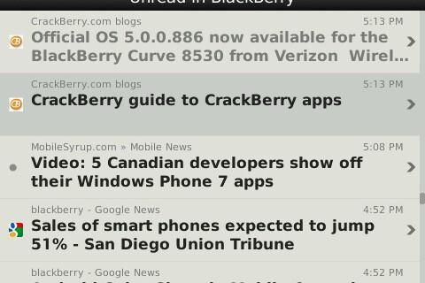 Feeds - Google Reader client for BlackBerry now available in BlackBerry App World