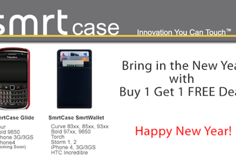 Bring in the New Year with a buy 1 get 1 deal from SmrtCase
