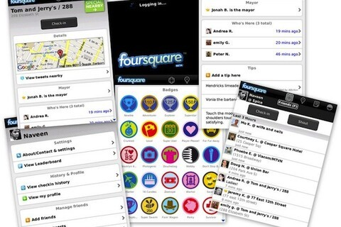 Setting up foursquare for BlackBerry