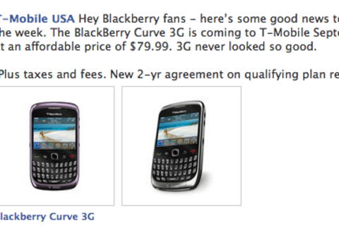 BlackBerry Curve 3G available from T-Mobile September 8th for $79.99