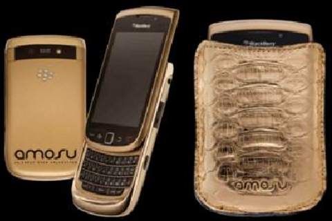 Standard colors not good enough? Grab an 18 carat gold BlackBerry Torch instead
