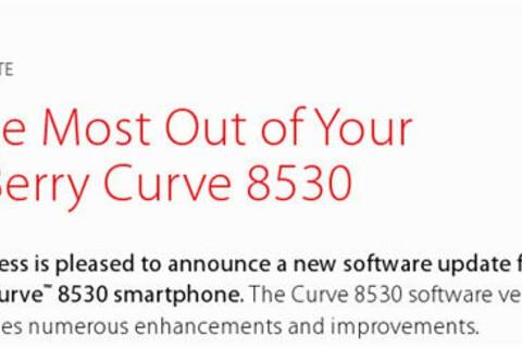 Verizon BlackBerry Curve 8530 OS Update On the Way?