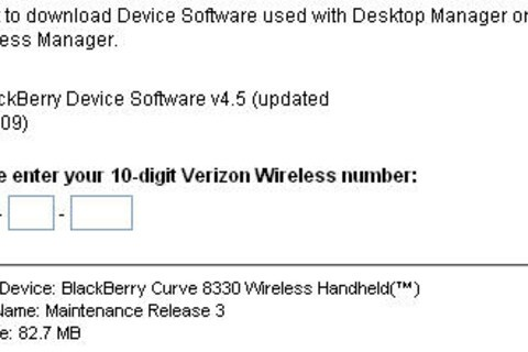 Verizon Officially Releases OS 4.5.0.138 for Pearl 8130 and Curve 8330