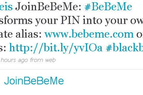 BeBeMe Bursts on to the BlackBerry Scene ... Kind of