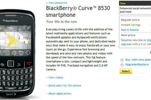 BlackBerry Curve 8530 Now Available From Sprint