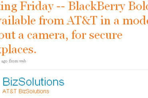 Cameraless BlackBerry Bold Available from AT&T This Friday