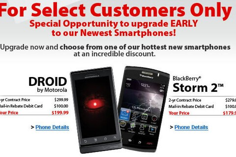 Verizon Offering Early Upgrades to Current Customers?