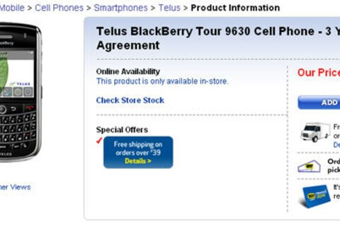 Telus BlackBerry Tour 9630 Available for $229.99 Pre-Order At Best Buy Canada