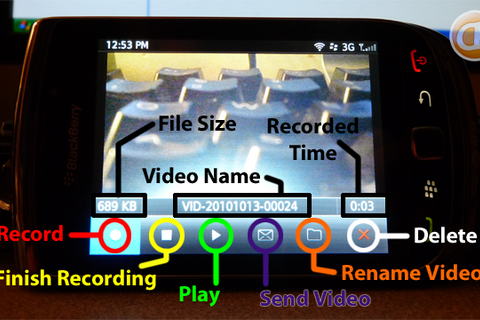 Using your camera on BlackBerry OS 6