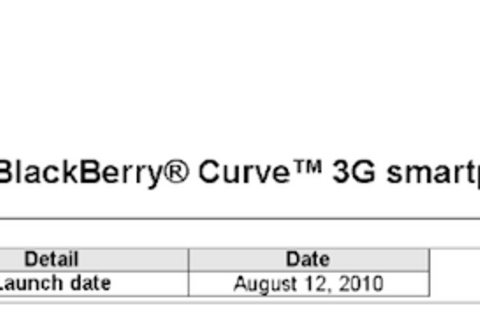 BlackBerry Curve 3G coming to Bell Mobility August 12th