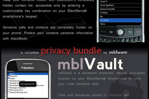 BlackBook and mblVault Privacy Bundle - Two Hundred Copies to Give Away!