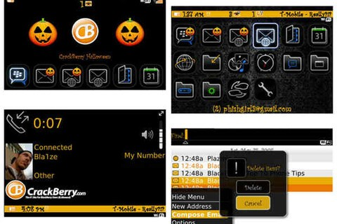 Free CrackBerry Halloween Theme for  Bold