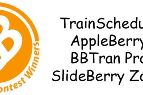 Contest Winners: TrainSchedule, Fancy Characters, AppleBerry, BBTran Pro & SlideBerry Zoom