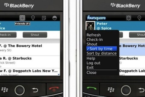 foursquare for BlackBerry v1.9 now available
