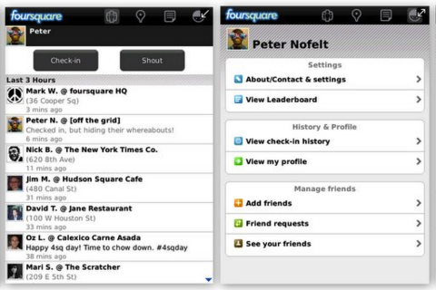 Foursquare for BlackBerry Update On The Way