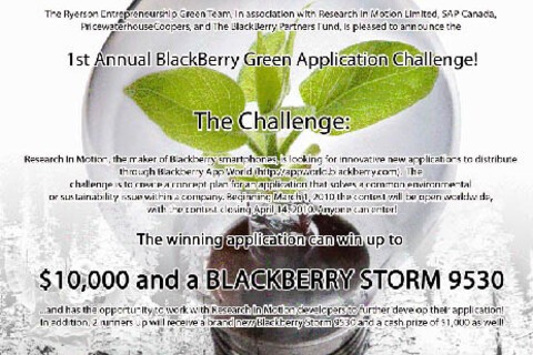 Attention Developers: Win up to $10,000 in the BlackBerry Green Application Challenge
