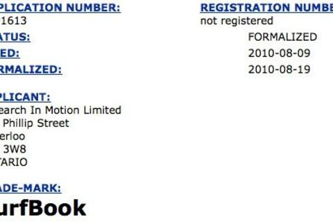 RIM files SurfBook trademark - possible name for BlackBerry tablet?