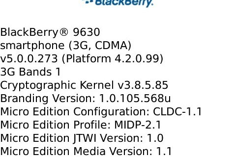 Leaked: OS 5.0.0.273 for the BlackBerry Tour 9630