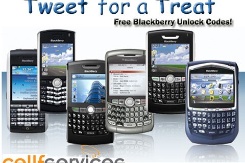 Cellfservices.com Tweet for a Treat Free Unlock Code for AT&T, Rogers & T-Mobile - Today Only