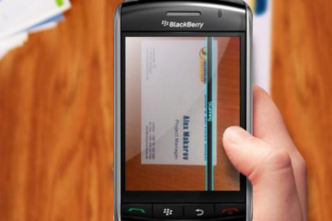 Business Card Reader for BlackBerry Smartphones