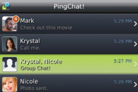 Review: PingChat 2 unites BlackBerry, iPhone and Android users through IM