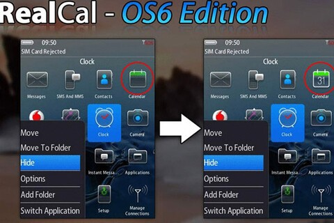 RealCal gives your calendar icon that OS 6 feel