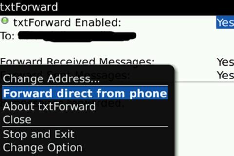 txtForward: SMS to Email Forwarding
