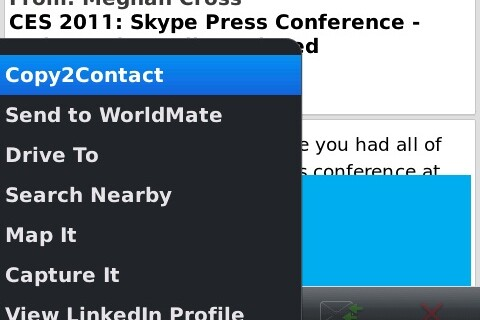 Copy2Contact for BlackBerry now available for OS 6