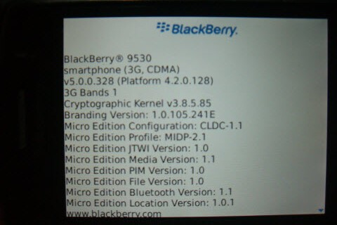 Tired of Waiting for Verizon to Make 5.0 Official? We Got It. Leaked: OS 5.0.0.328 (and .327) for the BlackBerry Storm 9530!