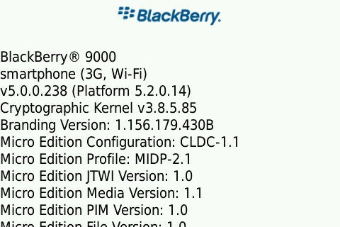 Leaked: OS 5.0.0.238 for the BlackBerry Bold and Curve 8900!