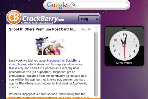 Mac User Love: Get the CrackBerry.com Widget!