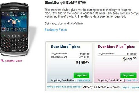 T-Mobile BlackBerry Bold 9700 Now Available For Purchase!!!