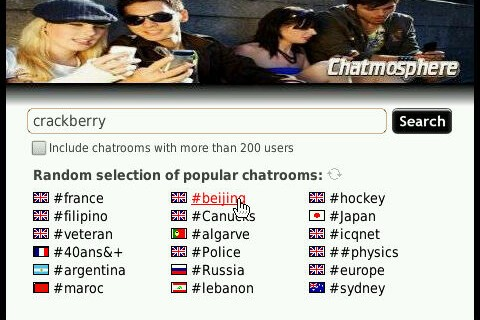 Chat it up with Chatmosphere - Full featured IRC client for BlackBerry