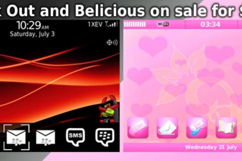 Give your BlackBerry a sense of style with Black Out or Belicious from Ahaz Designs - 30 free themes up for grabs!