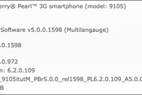 Official OS 5.0.0.972 for The BlackBerry Pearl 3G released by Pelephone