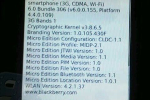 BlackBerry 9570 spotted running BlackBerry 6 but what is it?