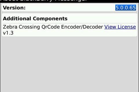 Leaked: BlackBerry Messenger Version 5.0.0.65