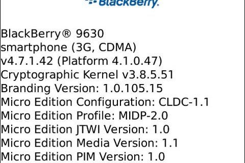 Leaked: OS 4.7.1.42 for BlackBerry Tour 9630