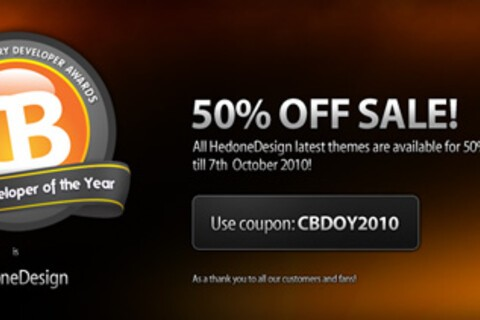 Get 50% off all Hedone Design themes until October 7th!