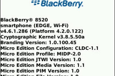 Leaked: BlackBerry Curve 8520 OS 4.6.1.286!
