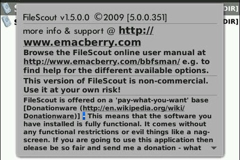 FileScout for BlackBerry Version 1.5.0.0 Released!