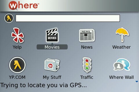 WHERE Available For BlackBerry Tour; Top Download from App World!
