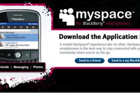 MySpace Finally Hits BlackBerry!