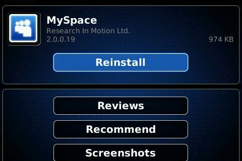 MySpace 2.0 For BlackBerry Smartphones Now Available