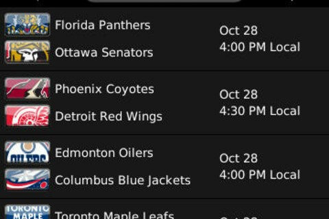 NHL Game Center now available in BlackBerry App World